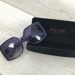 Ralph Lauren purple square frame sunglasses